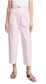 J Brand Pale Pink Ankle Crop Jeans