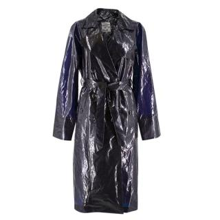 Baum Und Pferdgarten Black Vinyl Diane Coat in Night Sky