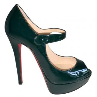 Christian Louboutin Black Patent Leather Mary-Jane Pumps
