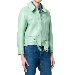 Golden Goose Deluxe Brand Mint Leather Jacket
