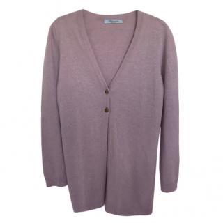 Blumarine Lilac Wool Cardigan