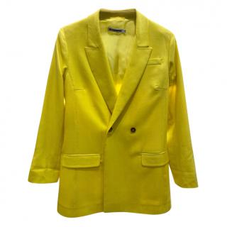 Ji Sander Yellow Oversize Blazer