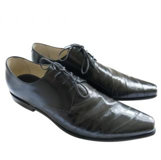 Pal Zileri Eel & Calf Leather Black Brogues