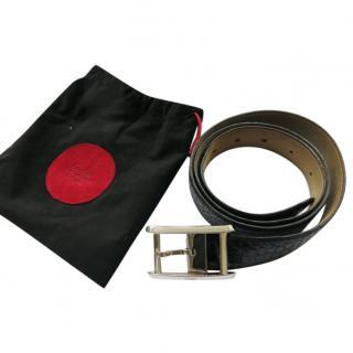 Cartier Men's Black Crocodile Leather Belt
