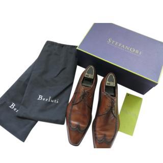 StefanoBi Brown Leather Wingtip Brogues