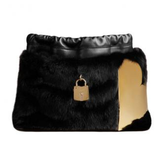 Burberry Prorsum Little Crush Bag in Mink with Metal Heart