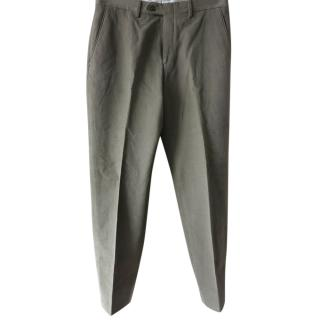 Brioni Olive Tailored Pants