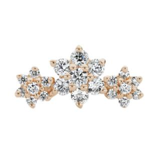 Maria Tash Three Flower Garland Diamond Stud Earring
