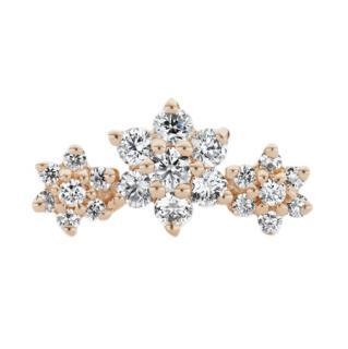 Maria Tash Three Flower Garland Diamond Stud Earring