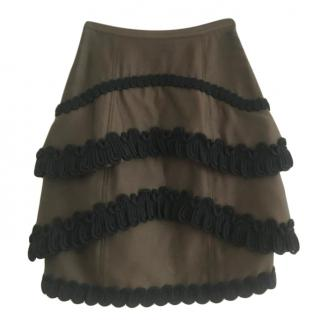 Burberry Prorsum Layered Skirt