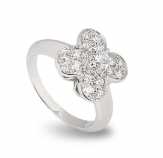 Van Cleef & Arpels White Gold Diamond Ring