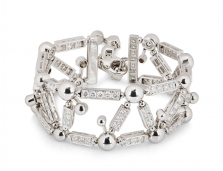 Bvlgari White Gold Diamond Bracelet