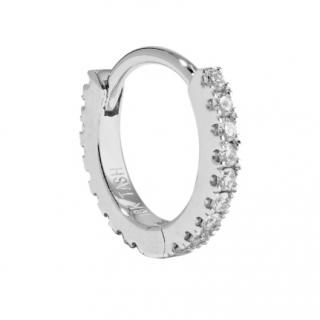 Maria Tash 6.5mm 18-karat white gold diamond hoop earring