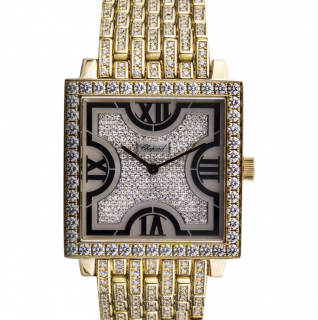 Chopard Diamond Encrusted Fully Loaded Mother of Pearl Wristwatch