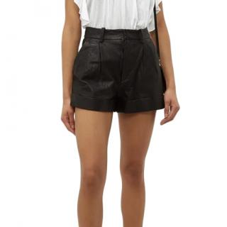 Isabel Marant Etoile leather shorts