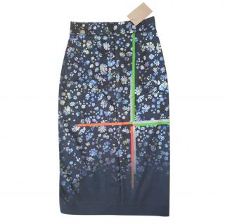 Preen By Thornton Bregazzi Forget Me Not Ombre Pencil Skirt