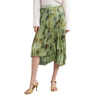 Andersson Bell pleated tie-dyed crepe de chine skirt - new season