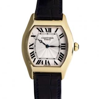 Cartier Unisex Tortue Mid-Size 18k Yellow Gold Wristwatch