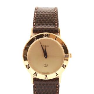 Gucci 25mm gold plated & stainless steel watch