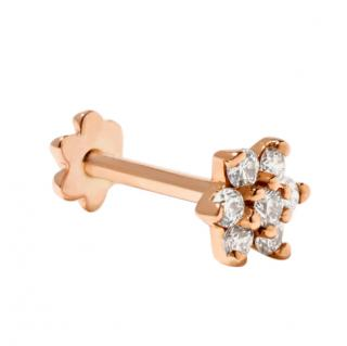 Maria Tash 4.5mm 18-karat rose gold diamond earring