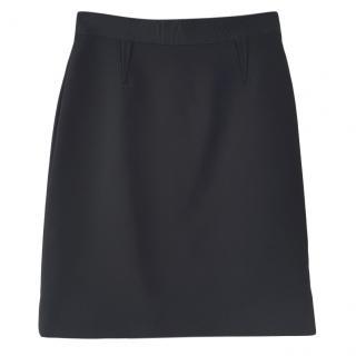 Dolce & Gabbana Virgin Wool Black Skirt