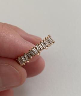 Suzanne Kalan 18kt Rose Gold Fireworks Diamond Eternity Ring