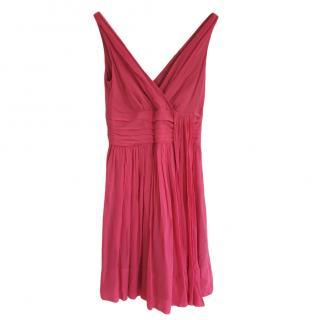 Temperley London Coral Pink silk dress