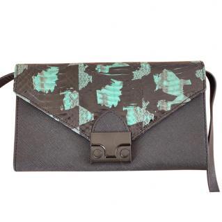 Loeffler Randall Python Print Envelope Crossbody Bag
