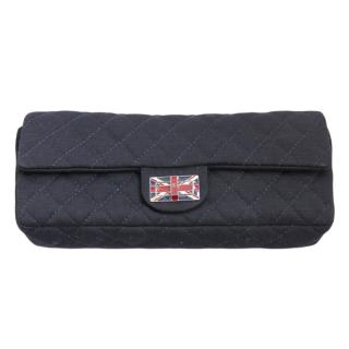 Chanel Limited Edition Navy Quilted Union Jack Clutch
