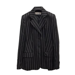 Christian Dior Striped Virgin Wool Single Breasted Jacket