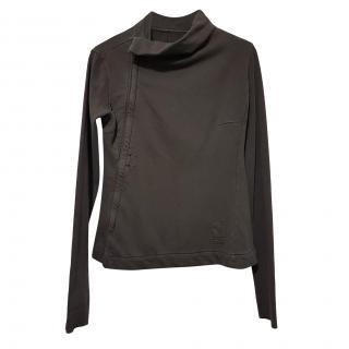 Rick Owens Khaki Zip Front Asymetric Jacket