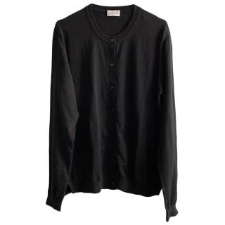 Moncler Black Extra Fine Cotton Black Cardigan