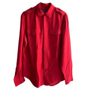 Ralph Lauren Red Military Shirt