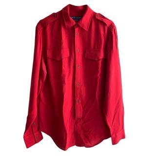 Ralph Lauren Red Military Shirt
