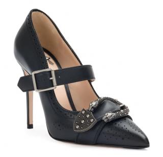 Gucci Black Leather Dionysus Buckle Pumps