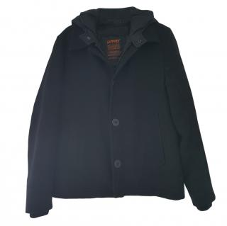 Schott Black Hooded Puffer jacket