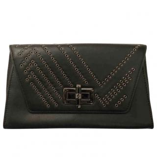 Diane von Furstenberg black Gallery Uptown clutch