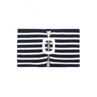 JW Anderson striped zip neckband