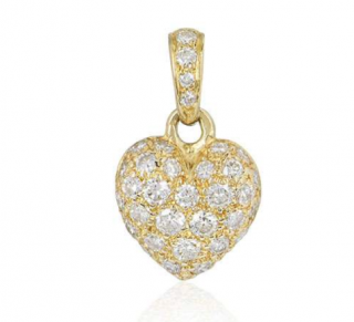 Cartier Diamond Charm set in Yellow Gold