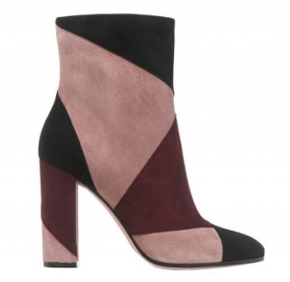 Gianvito Rossi Suede Patchwork Ankle Boots