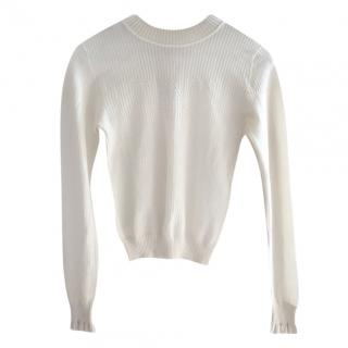 Fendi Ribbed Knit Tie-Back Sweater
