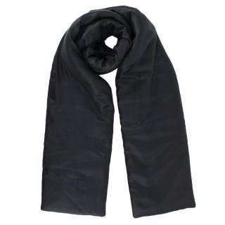 Burberry Navy & Black Reversible Padded Silk Scarf