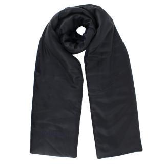 Burberry Navy & Black Reversible Padded Silk Scarf