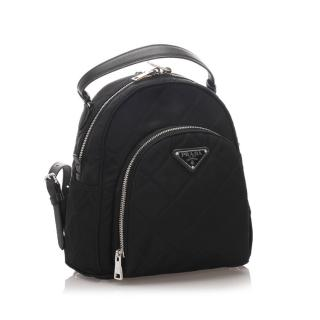 Prada Quilted Tessuto Backpack
