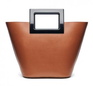 Marina Raphael Tan Leather Riviera Tote Bag