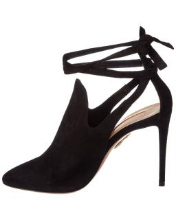 Aquazzura Black Suede Milano Booties 105
