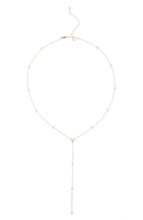 Mizuki 14K Pearl & Diamond Y-Drop Necklace in Yellow Gold/ Pearl