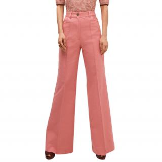 Kate Spade pink 70's cotton trousers