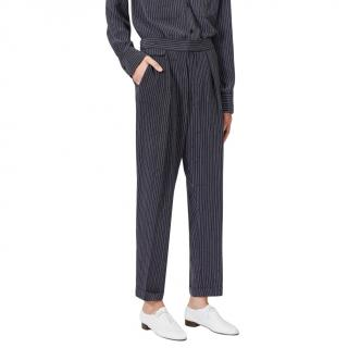 Equipment Black Striped Original Trouser