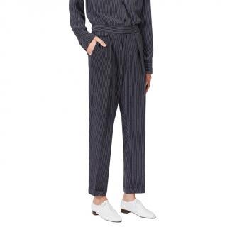 Equipment Black Striped Original Trouser